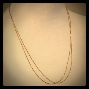 Double strand costume jewelry necklace